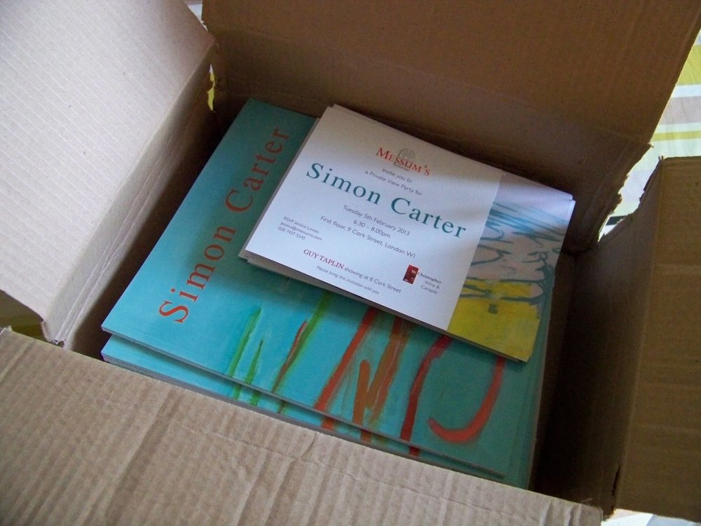 A box of catalogues for my forthcoming show at Messums have arrived! The paintings are now on-line at  www.messums.com  and there is only 3 weeks to go to the opening.