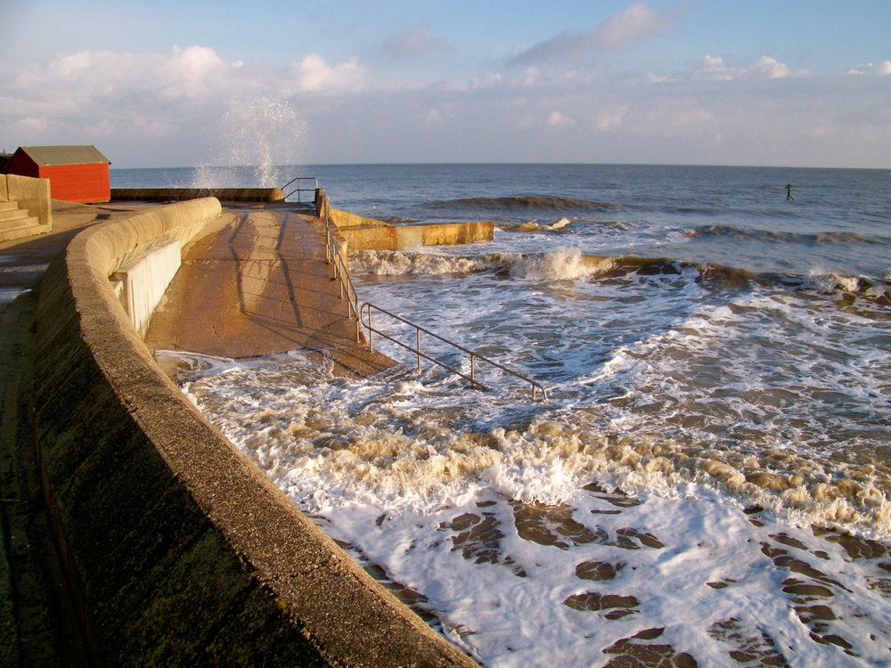 Bright cold sun this afternoon. Out making a few drawings of the cliff and of clouds out to sea.