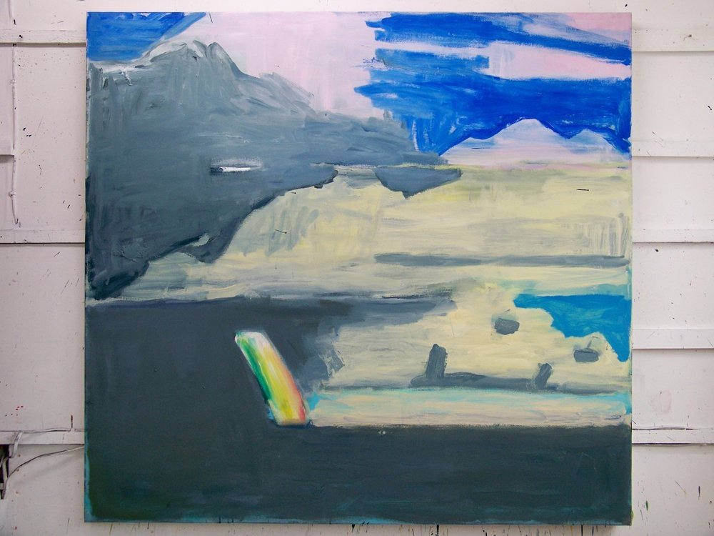 This is what the painting looked like this evening as I left the studio. The first time I've felt that it might be getting there; so I'll see how it appears in the morning… they often have a tendency to die overnight!