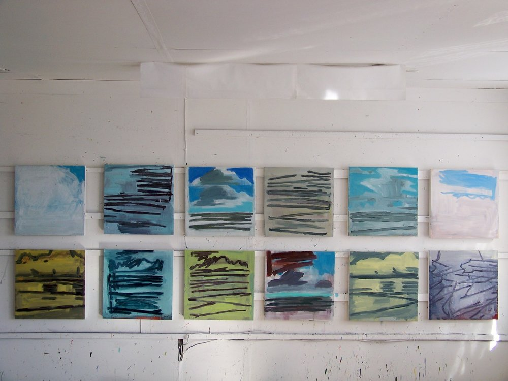 These are a group of the small paintings that I have been working on this year. I am beginning to see what I have completed, ahead of selecting work for my exhibition at Messum's in February 2013.