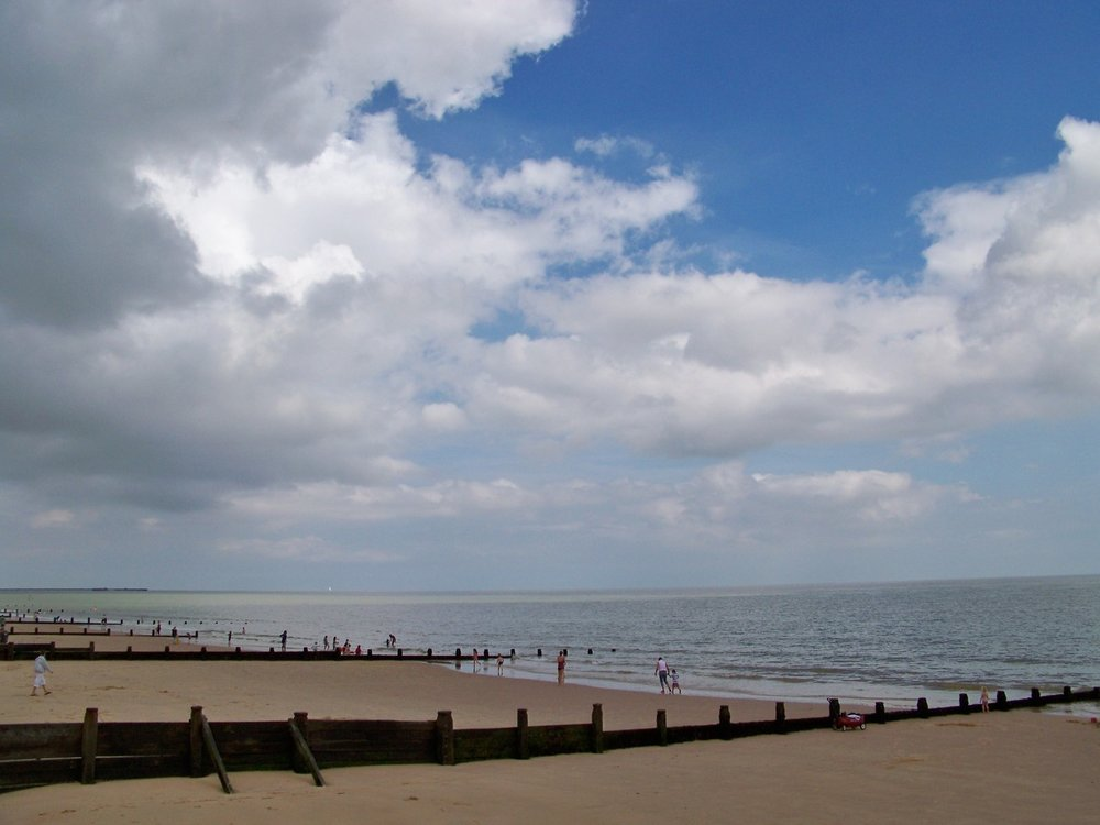 8th August 2012. The beach early this afternoon; making more drawings of clouds building over the sea.