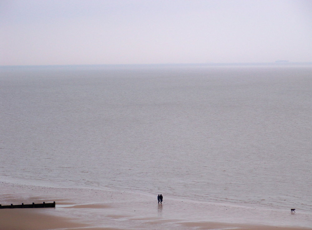 9th March 2012. The beach from the cliffs this evening.