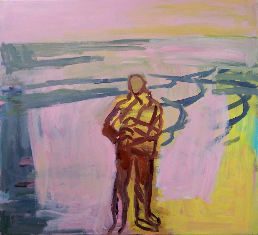 8th February 2012. This is the latest state of the pink and yellow painting.