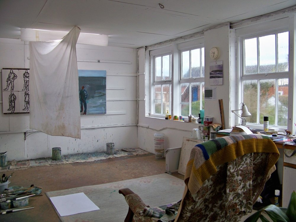 Photographing paintings in the studio this morning. See the  2011 gallery page  at my website for the last update of year.