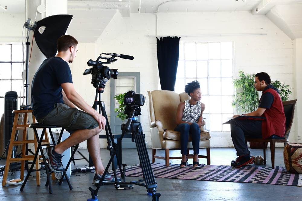 Pictured: Kevin shares his adoption story with me on the set of The Adopted Life for episode #2.  Location: Astroetic Studios. Los Angeles, CA Photo Credit: Audrey Matos