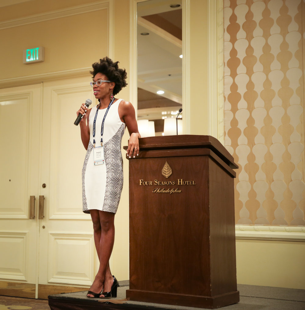 Angela delivering a keynote address at the American Academy of Adoption Attorneys Conference in Philadelphia, PA.