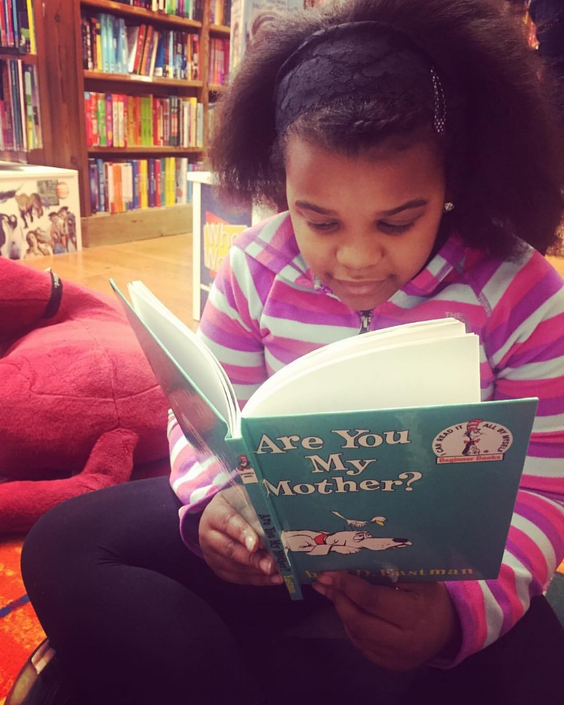 "Many of my weekends are spent mentoring young transracial adoptees. While browsing books at a local bookstore, she grabbed the book ""Are You My Mother,"" even though it is below her reading level. It prompted a rich discussion around her ""Ghost Kingdom."" -Angela Tucker, 2017"