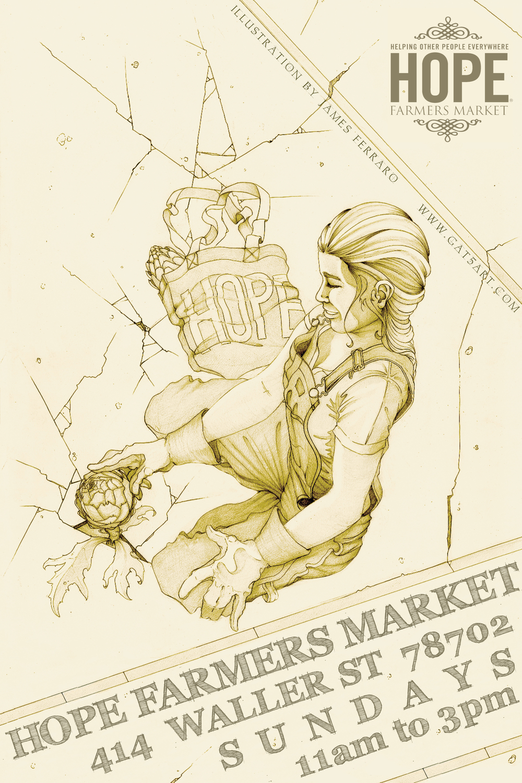 hope farmers market poster