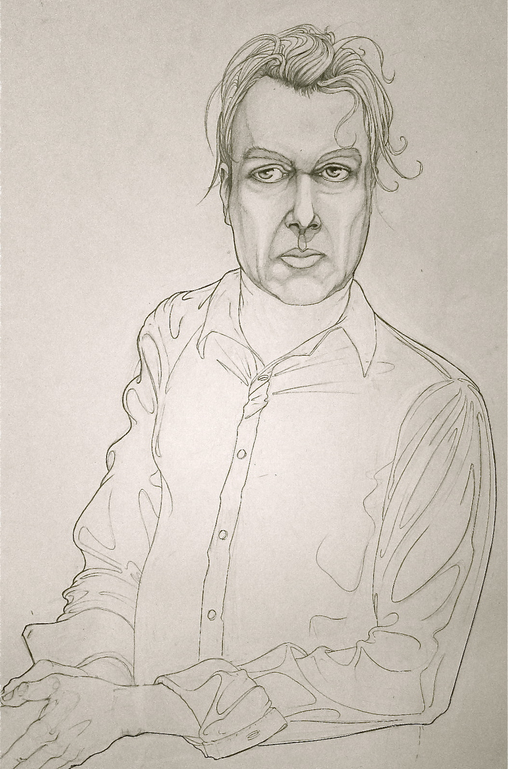 christopher hitchens. unknown private collection