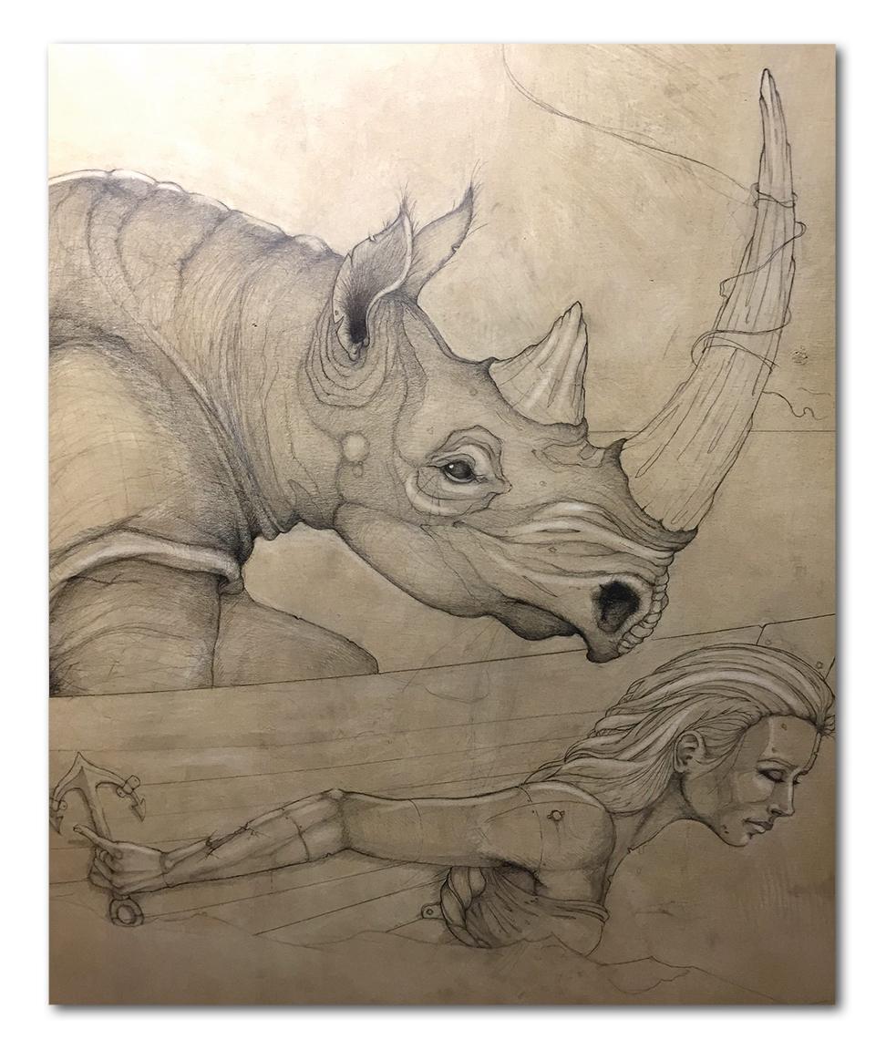 Progress shot of a 2015 commission.
