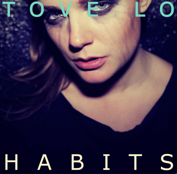 "Single cover for the single, ""Habits"""