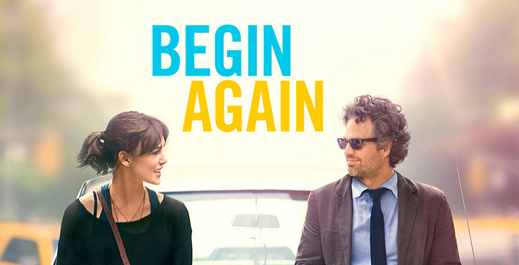Promotional poster for Begin Again