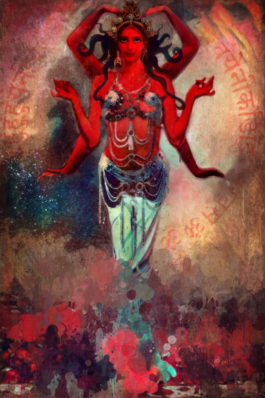 """Vajrayogini"", Lisbeth Cheever-Gessaman, 2016"