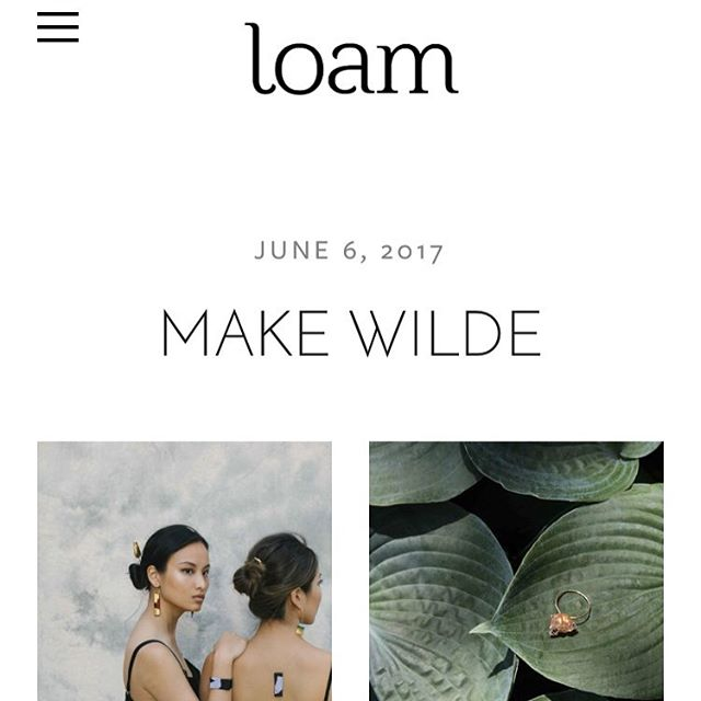 "Thank you @loammagazine for the interview 🙏🏻 go to their page to check it out, or visit our ""press"" tab on makewilde.com 🌿"