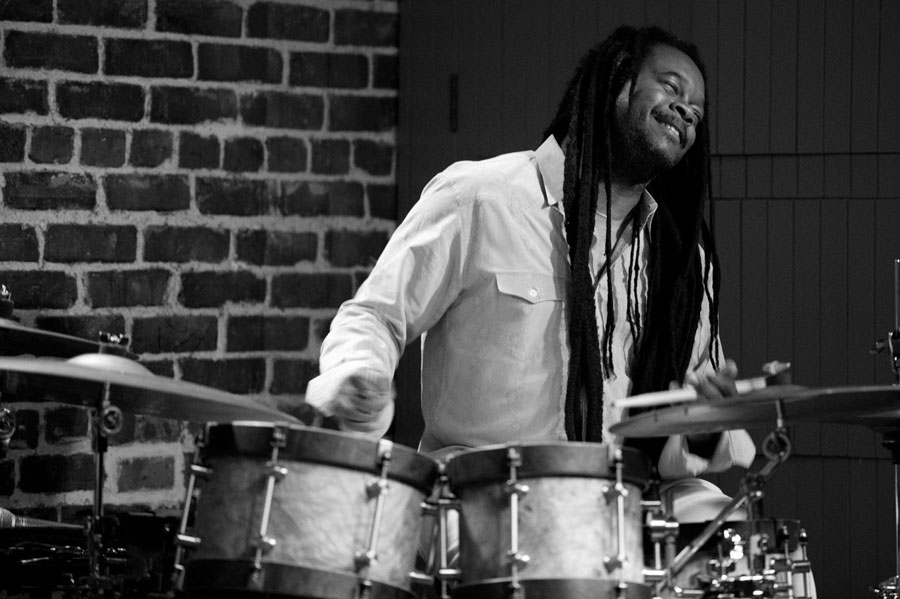 Quentin Baxter on drums