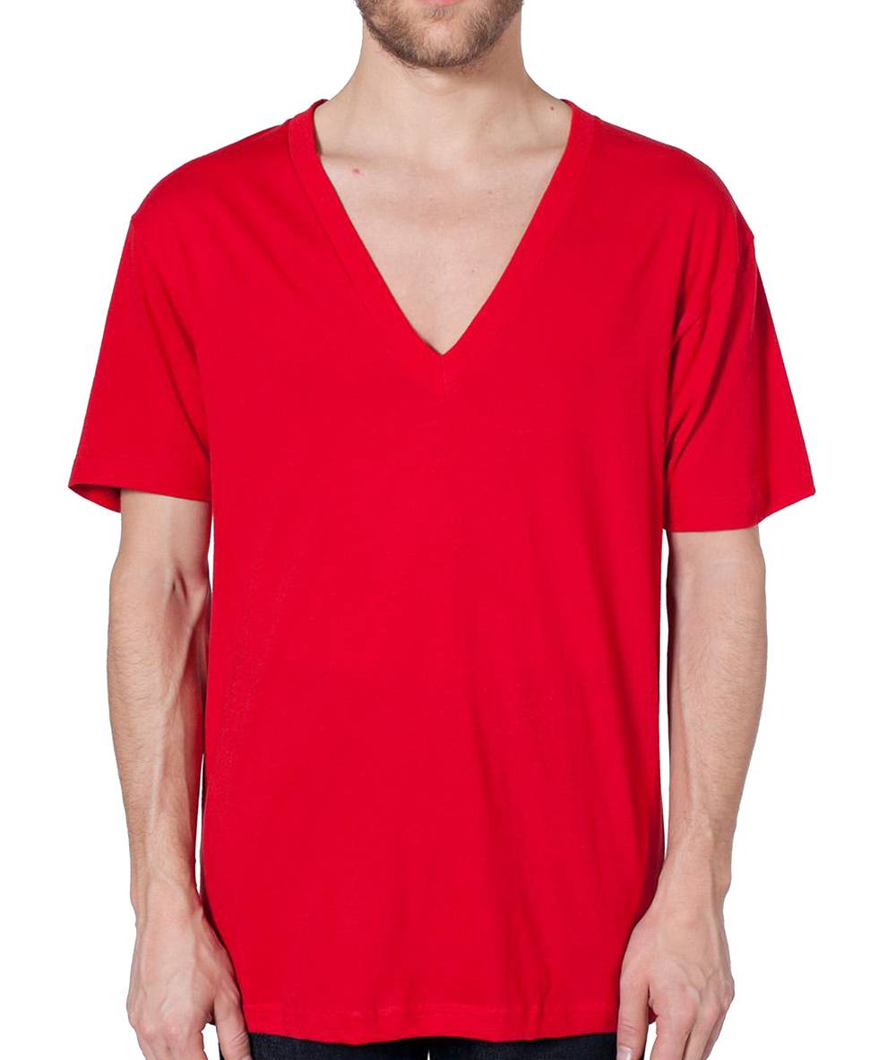 American Apparel Unisex Deep V T-Shirt