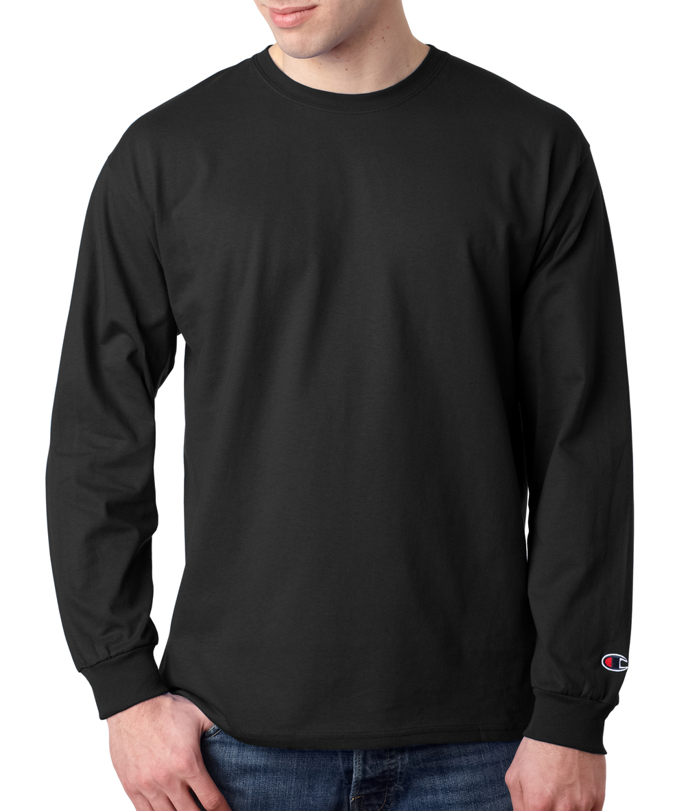Champion Long Sleeve Cotton T-Shirt
