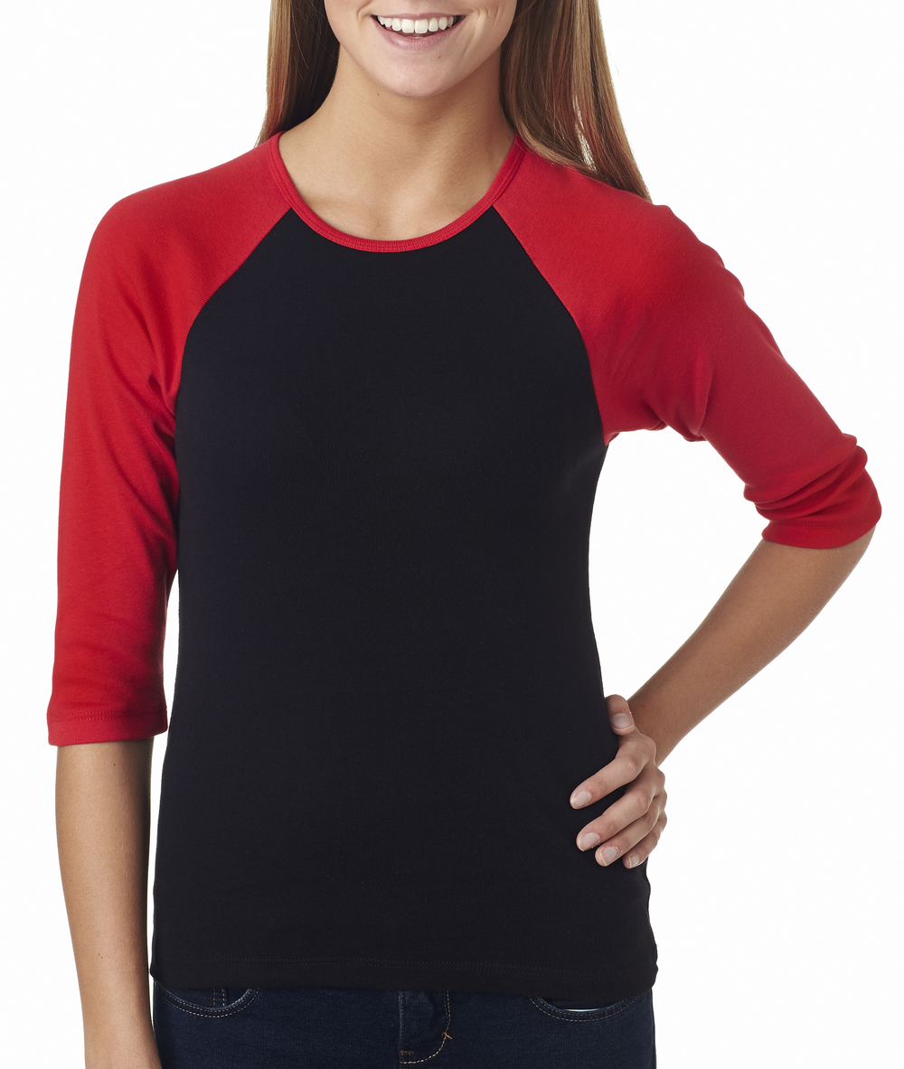 Bella+Canvas Ladies' 3/4 Sleeve Raglan