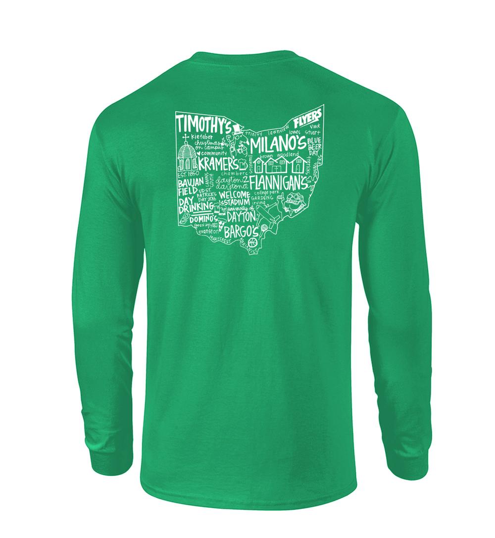 Ud St Patricks Day Long Sleeve T Shirt Custom Screen Printing In