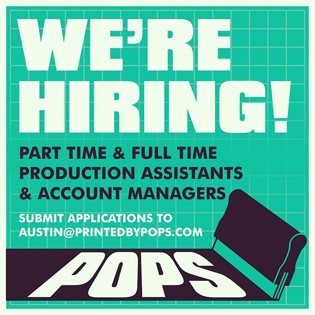 We're looking for a couple stud or studettes to join our growing team! Both part time and full time positions available with no experience required. Shoot your application over to austin@printedbypops.com to apply! #nowhiring #columbus #screenprinting . . . . . #asseenincolumbus #asseenoncampus #customtees #cbus #cbusfoodscene #cbusfoodbloggers #614 #614hair #614eats #614photographer #614living #614jobs #inkfordays #columbusohio #columbusalive #columbusfoodie #columbusunderground #columbusblogger