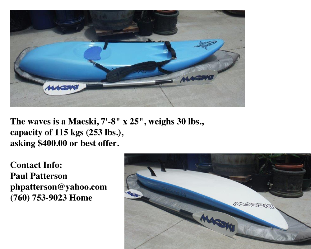 Island Waveski For Sale
