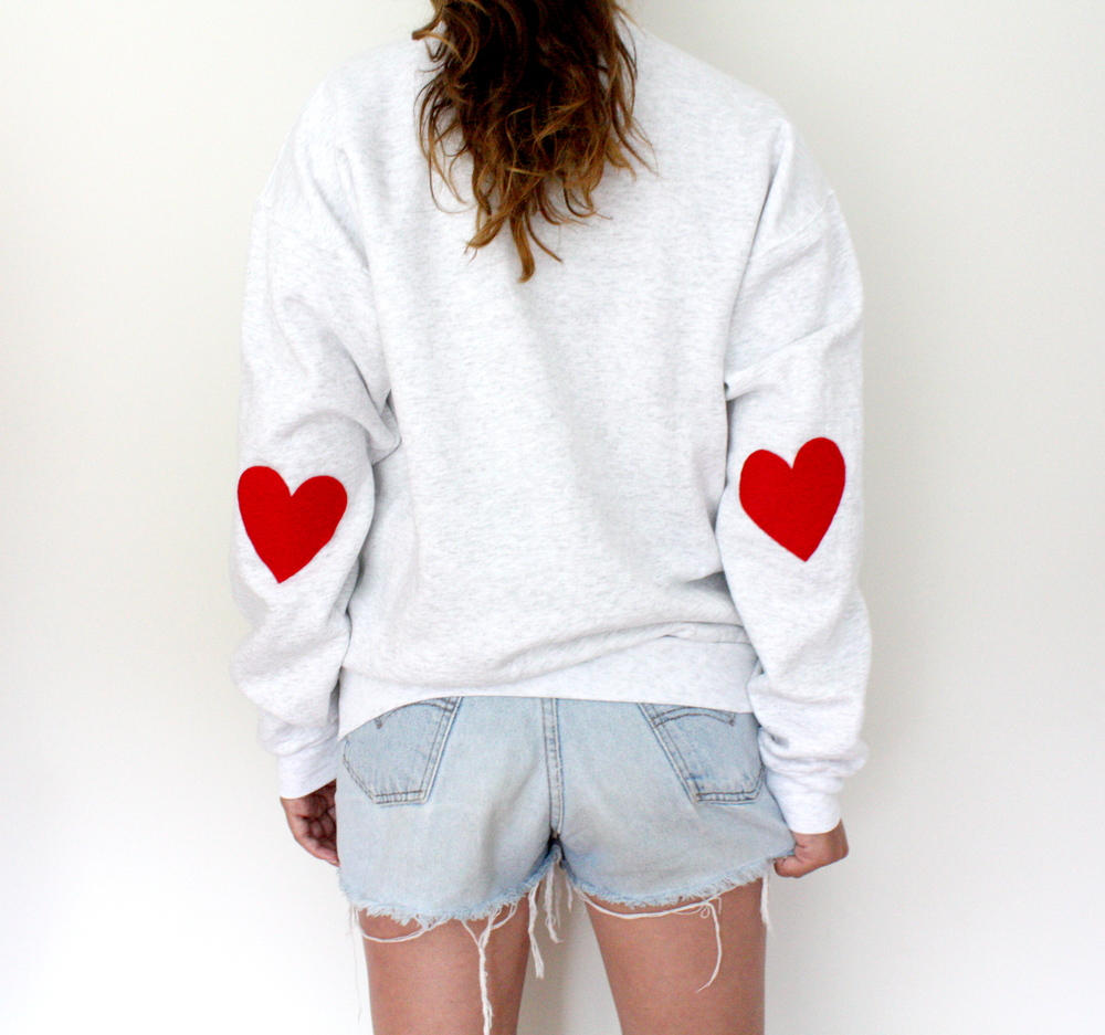 Elbow Heart Patch Sweatshirt - $34