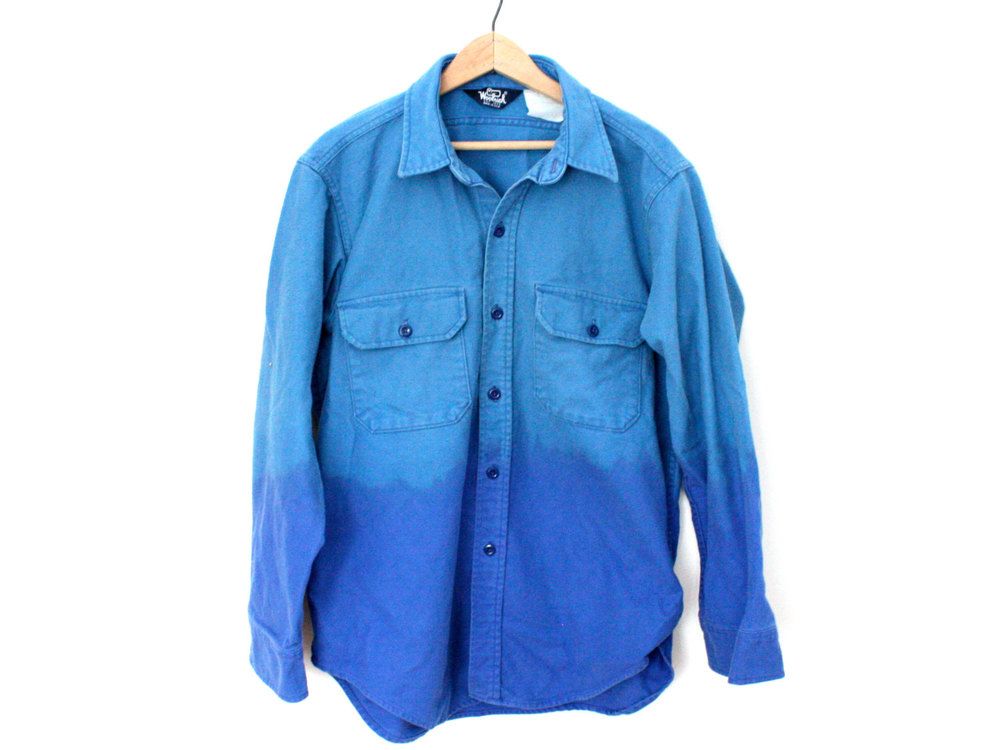 Ombre Blue Flannel - $24