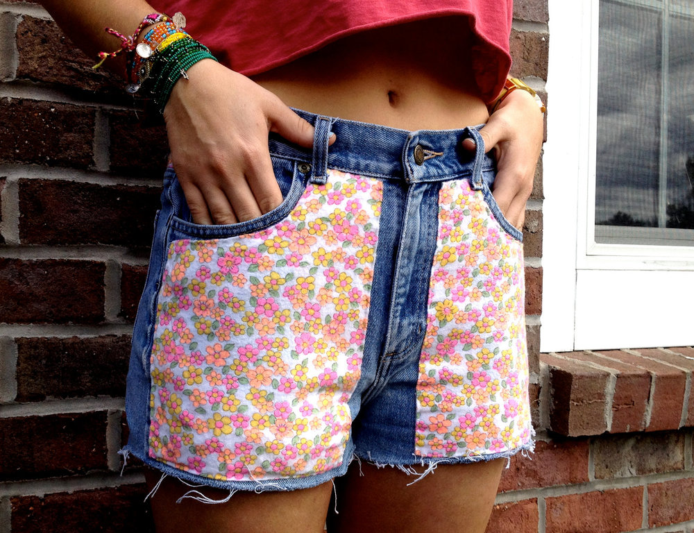 Floral Jersey Fabric Shorts - $32
