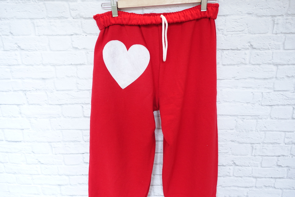 Heart Patch Sweatpants - $38