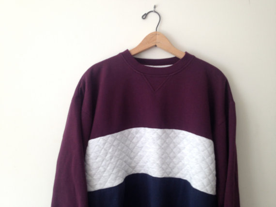 Burgundy Striped Sweater - SOLD OUT