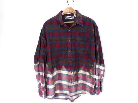Burgundy Dipped Flannel - SOLD OUT