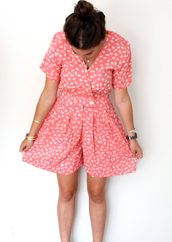 Vintage Floral Romper - SOLD OUT