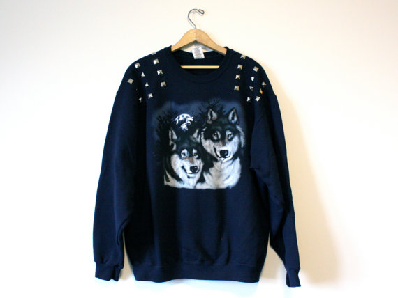 Studded Wolf Sweatshirt - SOLD OUT
