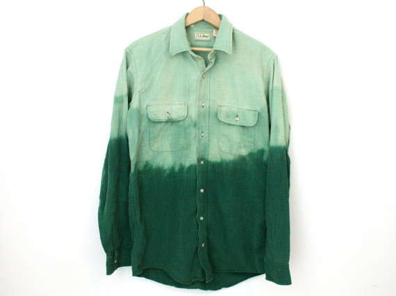 Bleached Green Flannel - SOLD OUT