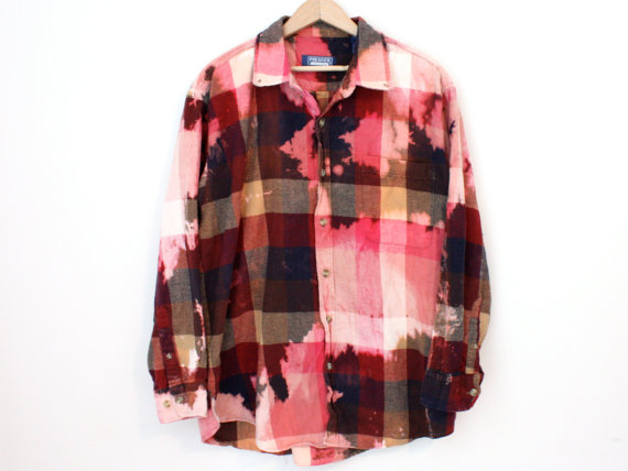 Red Bleached Flannel - SOLD OUT