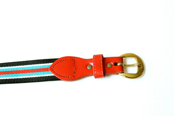 Vintage Striped Belt