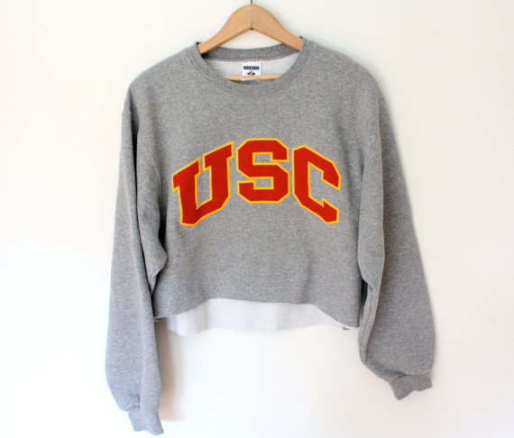 Vintage USC Cropped Sweatshirt - SOLD OUT