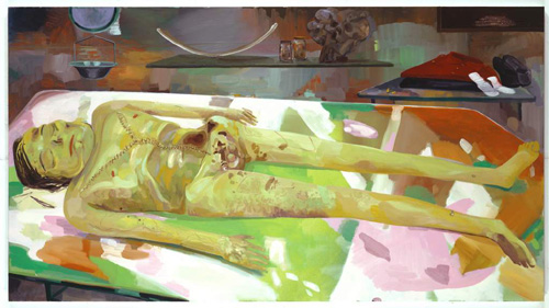 Dana Schutz's The Autopsy of Michael Jackson. Via the Blog Oly's Musings