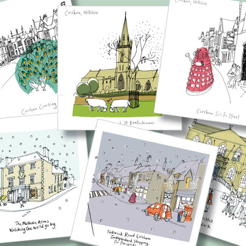 Set of 6 corsham greeting cards by susie brooks best of british art set of 6 corsham greeting cards by susie brooks m4hsunfo