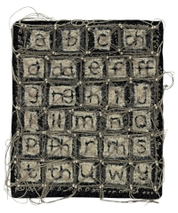 Ruth Harries' mixed media work, 'Yr Wyddor - The Alphabet'.