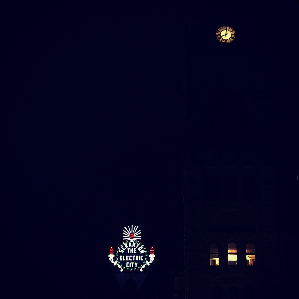 Scranton, PA at night