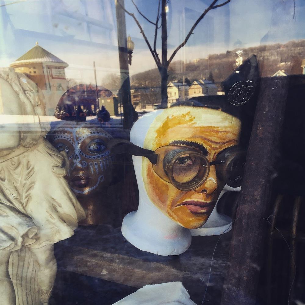 Store Front Window, Clinton St, Binghamton NY