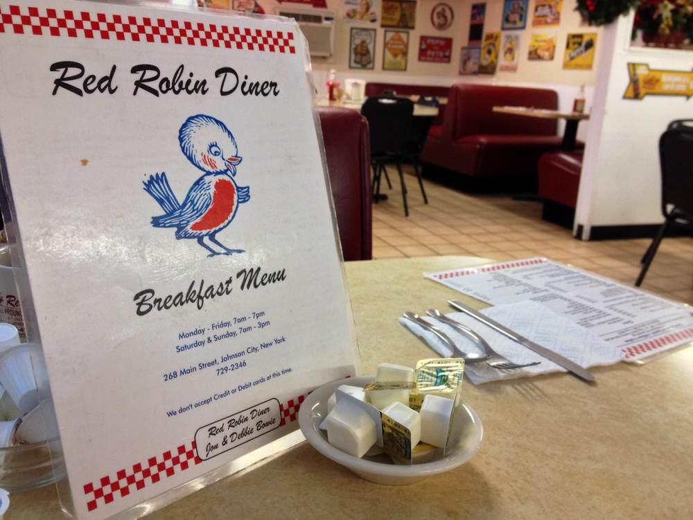 Breakfast at Red Robin Diner, Binghamton