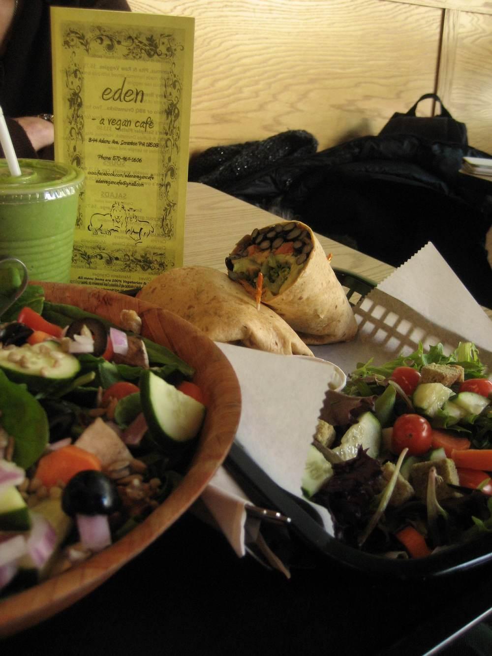 Lunch at Vegan Cafe, Scranton PA