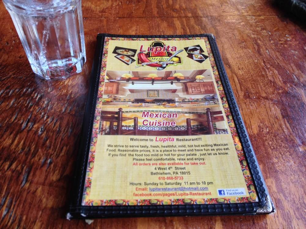 Lunch at Lupita, Bethlehem, PA
