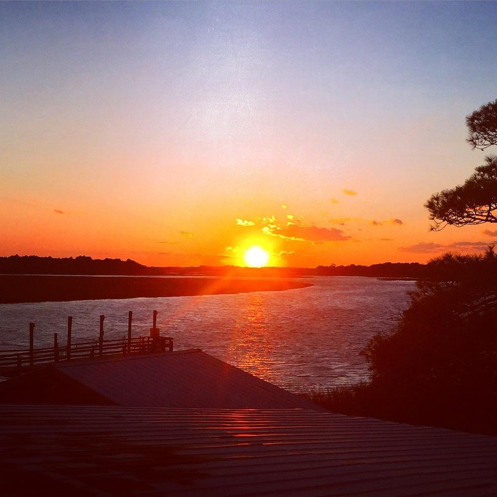 Sunset from Bowen's Island - Charleston, SC
