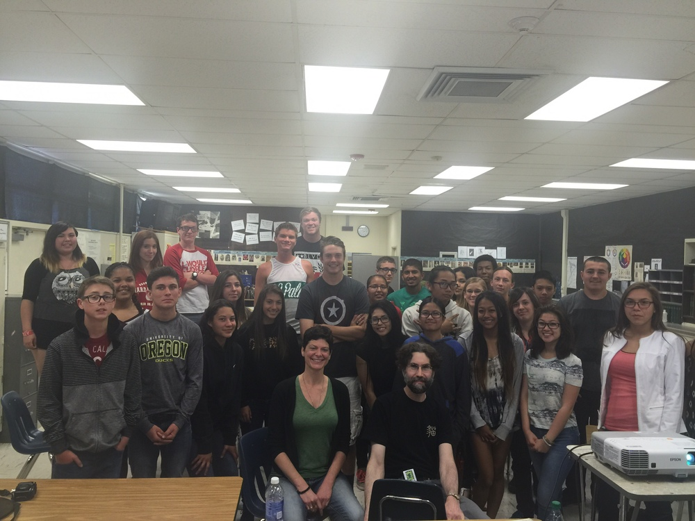 Presenting at the 29 Palms High School, Joshua Tree
