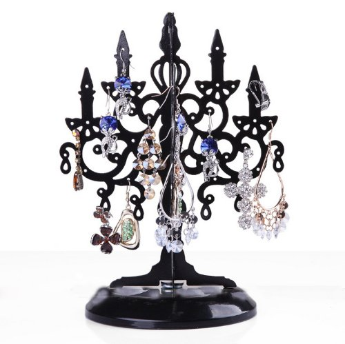 Black Metal Chandelier Tree Stand for Jewelry and Accessories ...