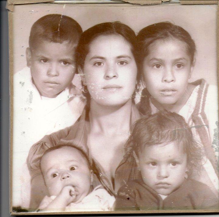 Our beautiful mom with Juve, Josie, Lela and Rigo