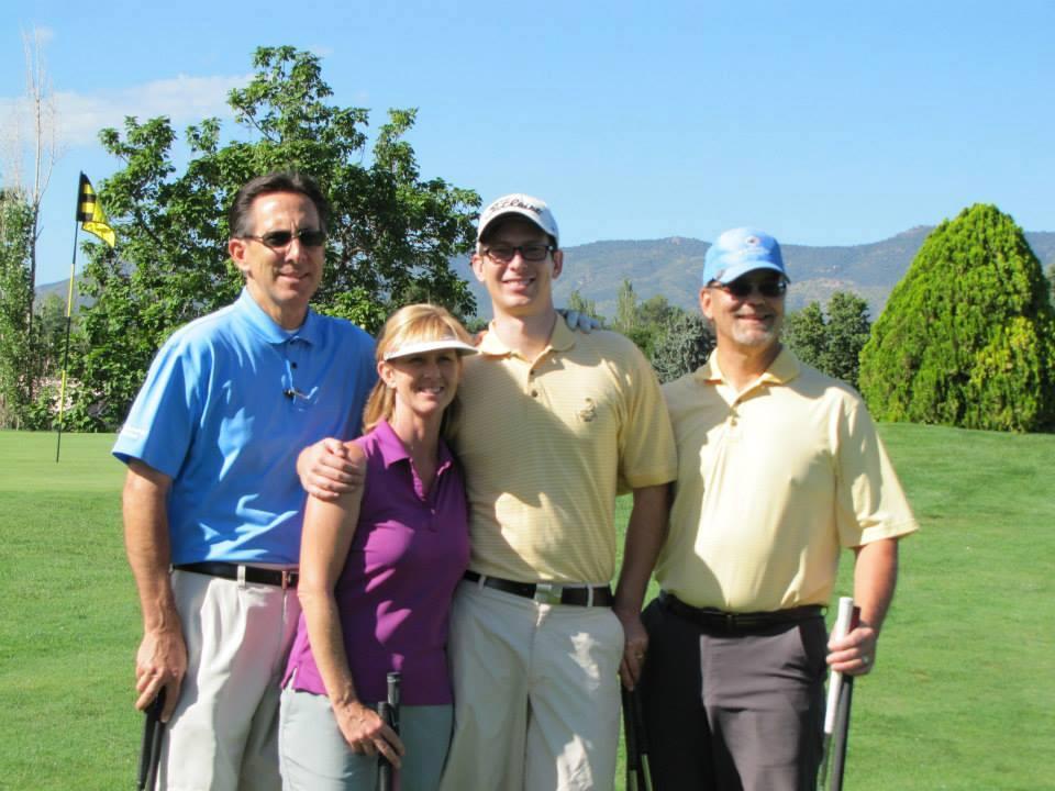 Mark Hutchason, Shelly Hutchason, Ross Hutchason and Dave Pillar